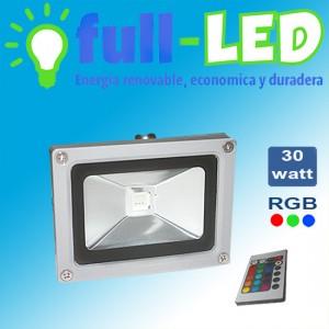 proyector full- led 30 watt rgb + control remoto