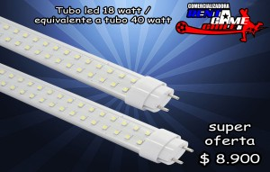 tubo led 18 watt / equivalente a tubo 40 watt