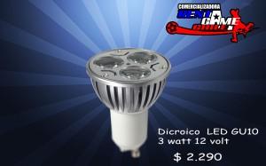 dicroico  led - gu10 3 watt  12 volt