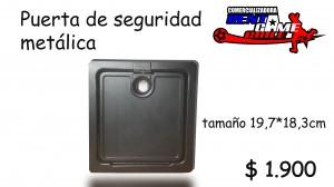 puerta seguridad metálica/acc. maqu. de juego precio oferta : $ 1.900
