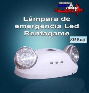 lampara de emergencia led rentagame /18 horas