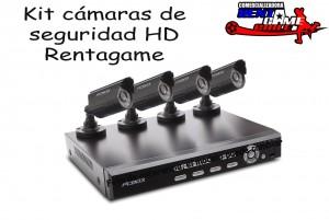 kit 4 cámaras de vigilancia hd rentagame