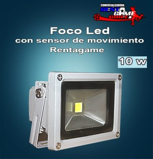 Foco led con sensor de movimiento rentagame 10 watt 220v - Foco con sensor de movimiento ...
